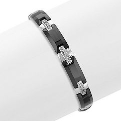 Tungsten and Diamond Bracelet (8.5 in.)