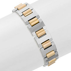 Tungsten Bracelet with Gold Ionic Plating (8.5 in.)