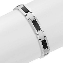 Tungsten and Carbon Fiber Bracelet (8.5 in.)