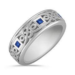 Square Cut Sapphire Ring