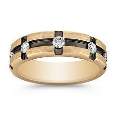 Diamond Channel-Set Ring with Black Ruthenium