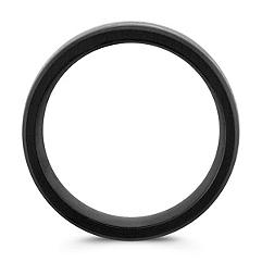 Black Cobalt Comfort Fit Ring with Satin Finish (8mm)
