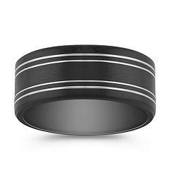 Black Cobalt Comfort Fit Ring with Satin Finish (8mm)