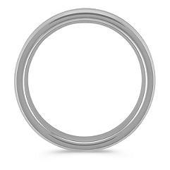 Brushed Comfort Fit Titanium Men's Band (6.5mm)