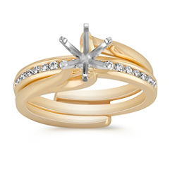 Round Diamond Classic Wedding Set with Channel Setting