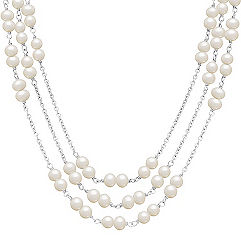 5mm Cultured Freshwater Pearl and Sterling Silver Necklace (18)