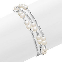 5mm Cultured Freshwater Pearl and Sterling Silver Bracelet (8)