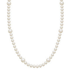 5.5-9mm Cultured Freshwater Pearl Strand in Sterling Silver (36)
