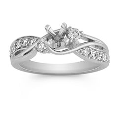 Swirl Diamond Fashion Ring