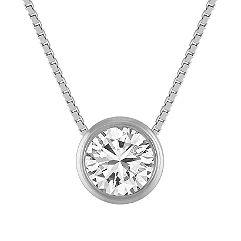 Bezel-Set Diamond Pendant (20 in.)