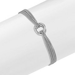 Sterling Silver Circle Bracelet (7.5 in.)