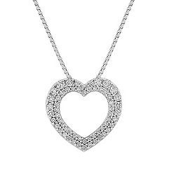 Diamond Heart Pendant with Pave Setting (18 in.)
