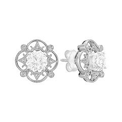 Vintage Round Diamond Earring Jackets