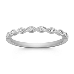 Twist Diamond Ring with Pave Setting