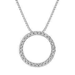 Classic Diamond Circle Pendant (18 in.)