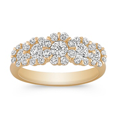 Round Diamond Cluster Ring