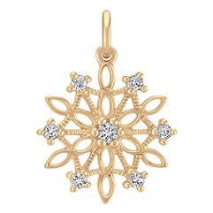 Round White Sapphire Snowflake Charm