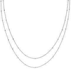 14k White Gold Wheat Chain with Stations