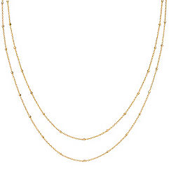 14k Yellow Gold Wheat Chain with Stations (36 in.)