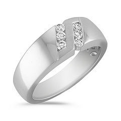 Diamond Ring with Channel Setting and Satin Finish