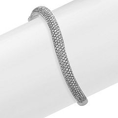 Diamond Wave Bangle Bracelet (7 in.)