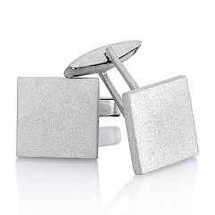 Sterling Silver Cuff Links with Sandblasted Finish