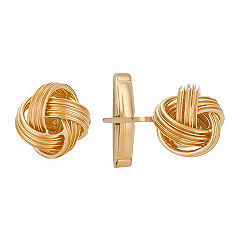 Yellow Sterling Silver Knot Cuff Links