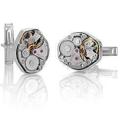 Sterling Silver Watch Cuff Links