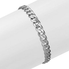 Sterling Silver Curb Bracelet (8.5 in.)