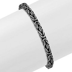 Sterling Silver Bracelet with Black Rhodium (8.5)