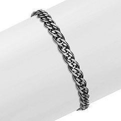 Sterling Silver Bracelet with Black Ruthenium (8.5 in.)