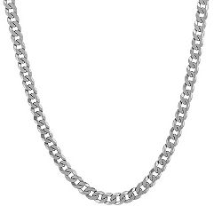 Sterling Silver Curb Necklace (24)