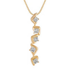 Princess Cut Diamond Pendant (18 in.)