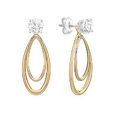 14k Yellow Gold Teardrop Earring Jacket