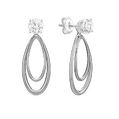 14k White Gold Teardrop Earring Jacket