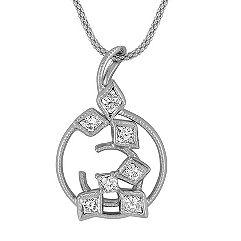Calla Cut Diamond Pendant (22 in.)