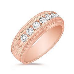 Diamond Ring in 14k Rose Gold