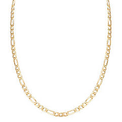 Figaro Necklace in 14k Yellow Gold (24)