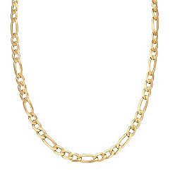 14k Yellow Gold Figaro Necklace (24 in.)