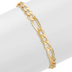 14k Yellow Gold Figaro Bracelet (8.5 in.)