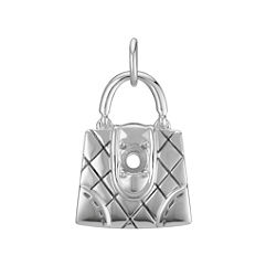 14k White Gold Purse Charm