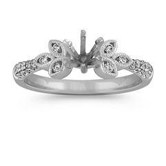 Petal Round Diamond Ring