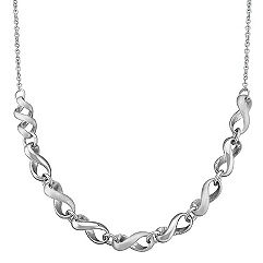 Sterling Silver Infinity Strand Necklace (18 in.)