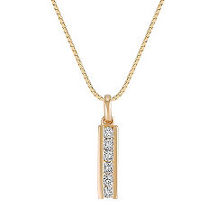 Round Diamond Drop Pendant (18 in.)