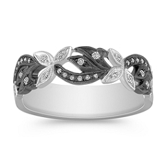 Vintage Diamond Fashion Ring with Black Rhodium