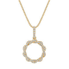 Diamond Twist Circle Pendant (18)