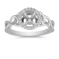 Halo Round Diamond Ring with Pavé Setting