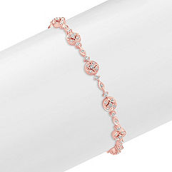 Diamond Bracelet in Rose Gold (7.25)