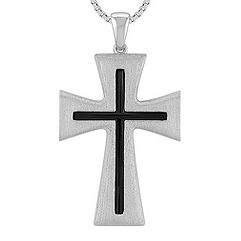 Sterling Silver Cross with Satin Finish (20 in.)