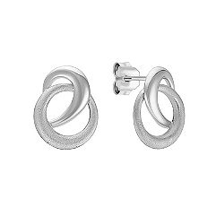 Swirl Circle Sterling Silver Earrings